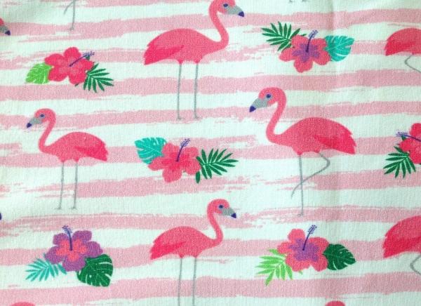 French Terry Flamingos und Streifen - Frl von Julie