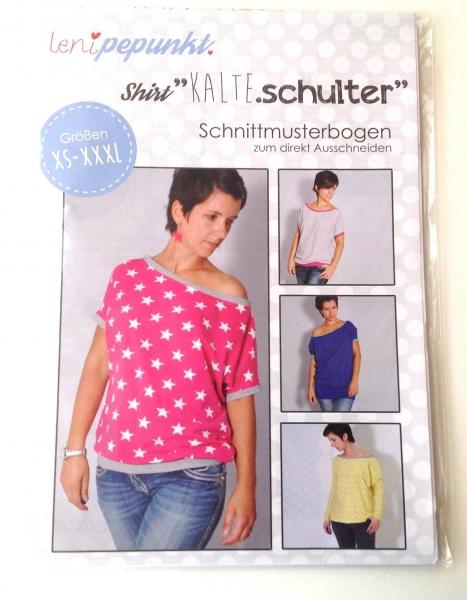 Leni P.Punkt Schnittmuster - Shirt Kalte Schulter XS-XXXL
