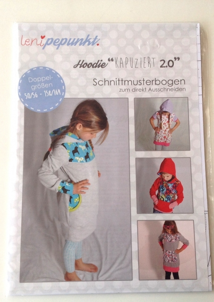 Leni P.Punkt Schnittmuster - Hoodie Kapuziert 2.0 Gr. 50/56-158/164