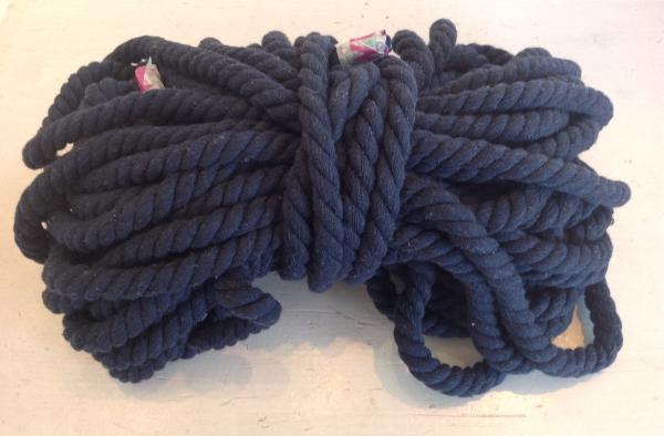 Baumwollkordel 12 mm dunkelblau Kapuzenpulli-
