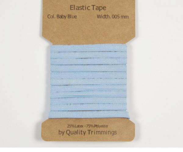3 m Gummiband -5 mm für Masken in baby blau