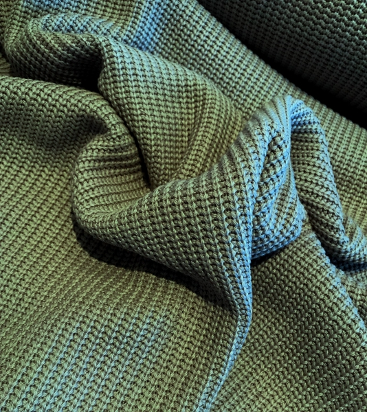 Baumwoll-Strick - Cotton Knitted Cable khaki