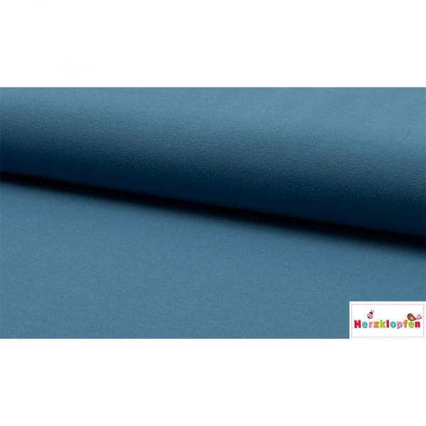 Baumwolljersey uni jeans-blau