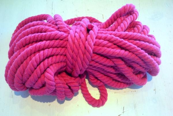 Baumwollkordel 12 mm pink Kapuzenpulli
