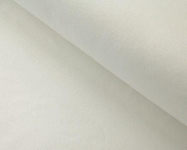 Jersey Baumwolle uni -woll weiss