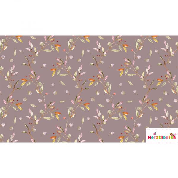 Viscose Jersey digital - herbstliche Blätter