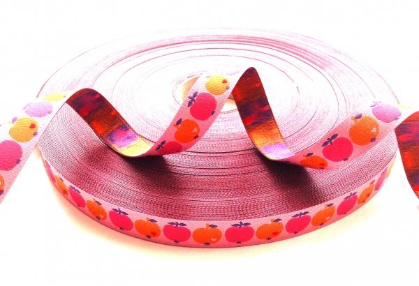 Webband Farbenmix - Äpfelchen pink-orange byGraziela