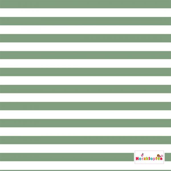 Jersey Streifen mint - weiss