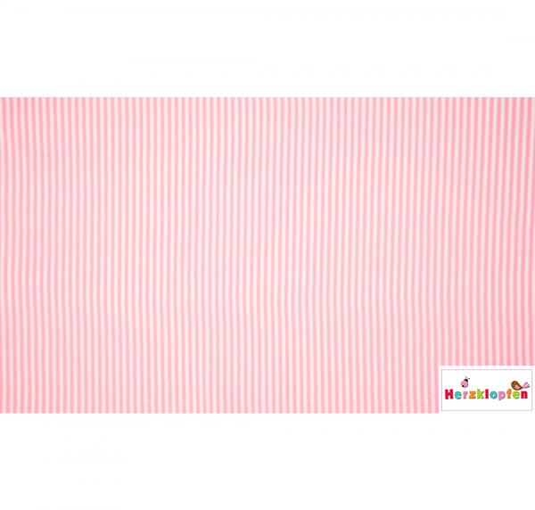 Bündchen rosa weiss gestreift - Schlauchware-
