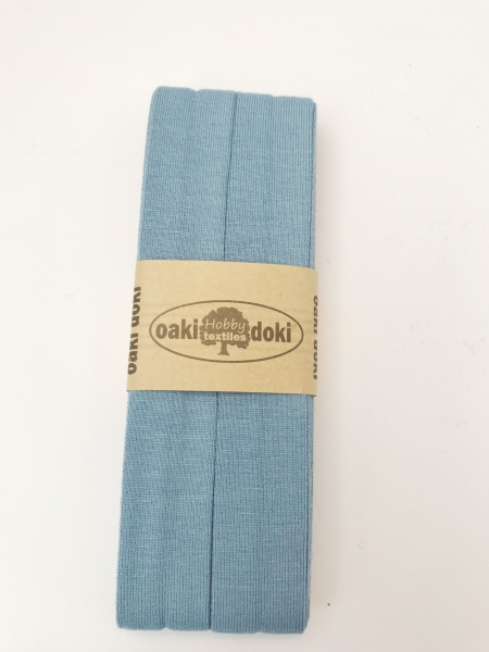 3 m Jersey Schrägband - oaki doki - jeansblau