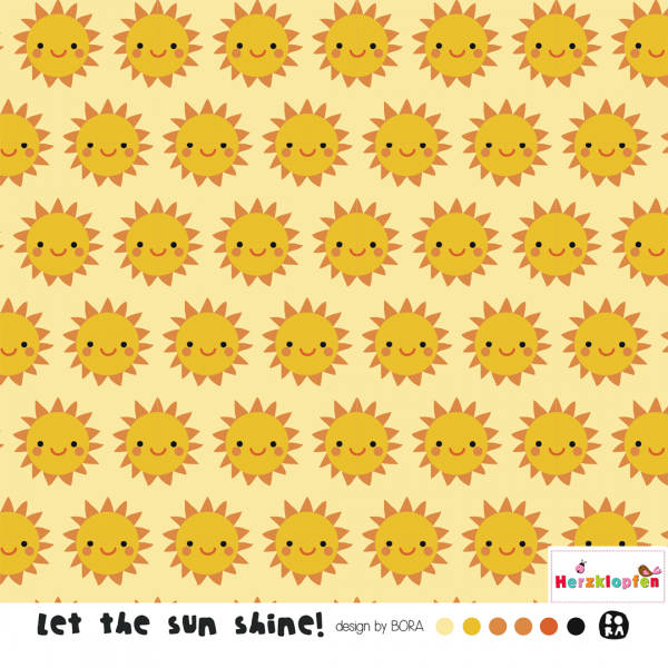 Lillestoff sommersweat - Let the sun shine
