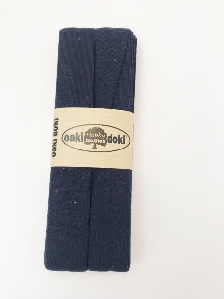 3 m Jersey Schrägband - oaki doki - navy