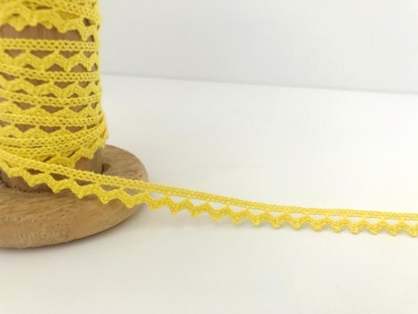 3 m Häkelspitze gelb aus Baumwolle