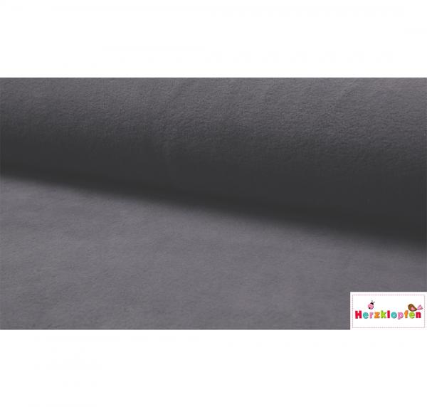 Baumwoll Fleece dunkel grau