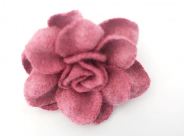 1 Stck Wollblume altrosa 4 cm