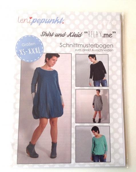Leni P.Punkt Schnittmuster -Shirt und Kleid Relax me XS-XXXL