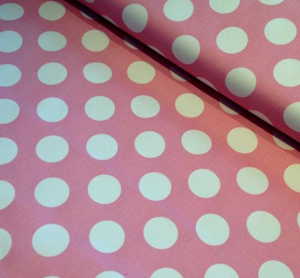 Big 60's Baumwollstretch Hilco Dots rosa