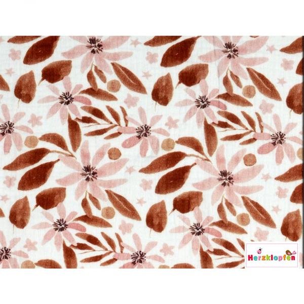 Baumwoll Musselin - Herbstlaub