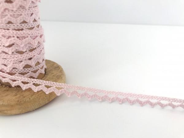 3 m Häkelspitze rosa aus Baumwolle