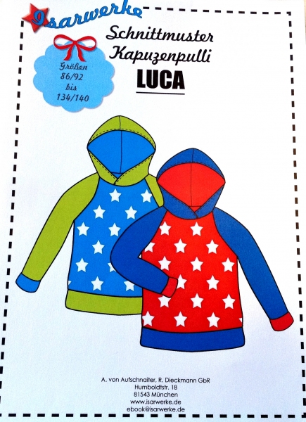 Papierschnittmuster Kapuzenpulli Luca
