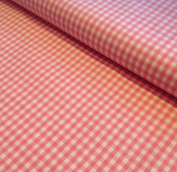 Baumwollstoff Vichykaro pink-weiss