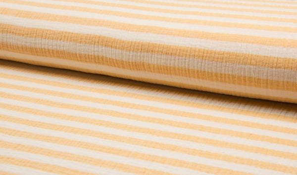 Musselin gelb-weiss gestreift