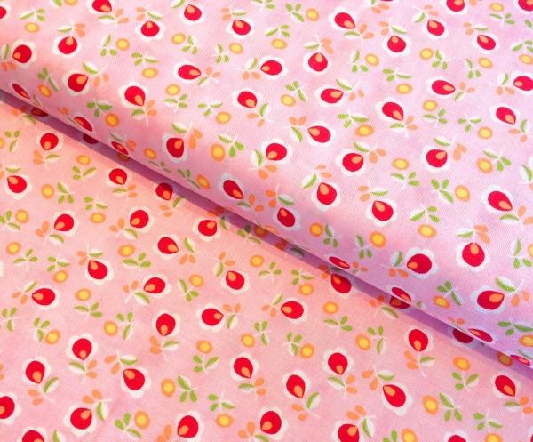Stoff Blumen rosa Baumwolle-