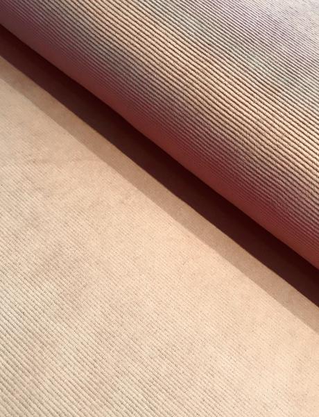 Cord Jersey fein gerippt hell beige
