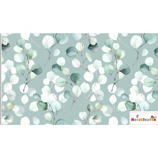 Viscose digital Eucalyptus mint